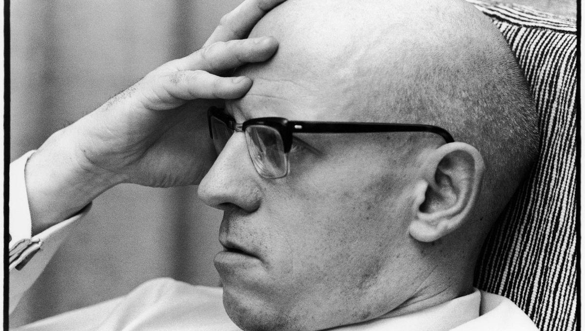 Portrait de Michel Foucault en 1977.
