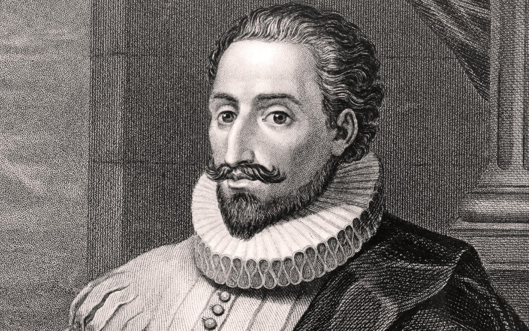 Portrait de Miguel de Cervantes Saavedra, 1547-1616. L'écrivain espagnol, auteur de Don Quichotte de la Manche.