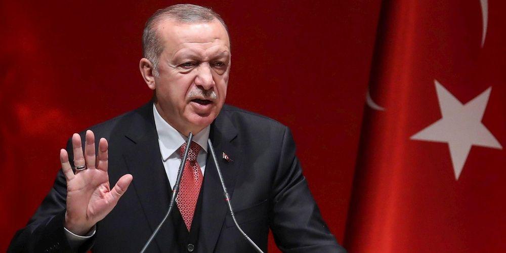 Portrait du président turc Recep Tayyip Erdoğan