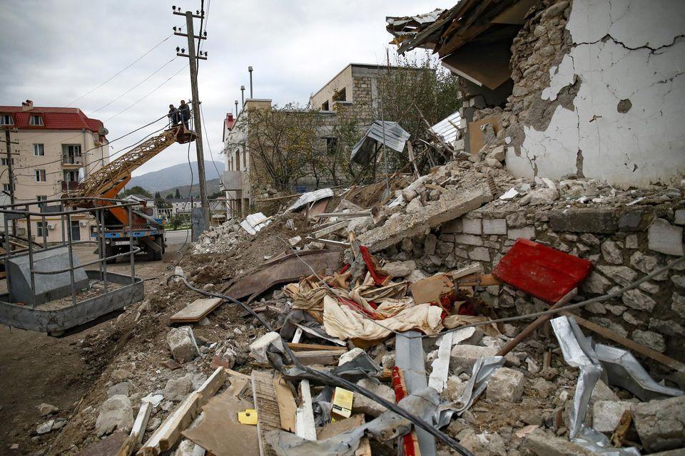 A Stepanakert, au Haut-Karabakh, le 10 octobre.