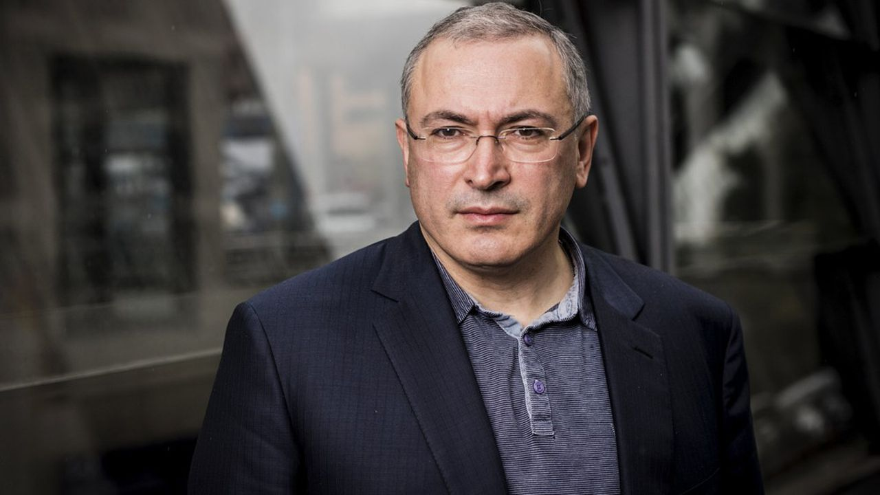 Portrait de l'opposant russe Mikhail Khodorkovski.