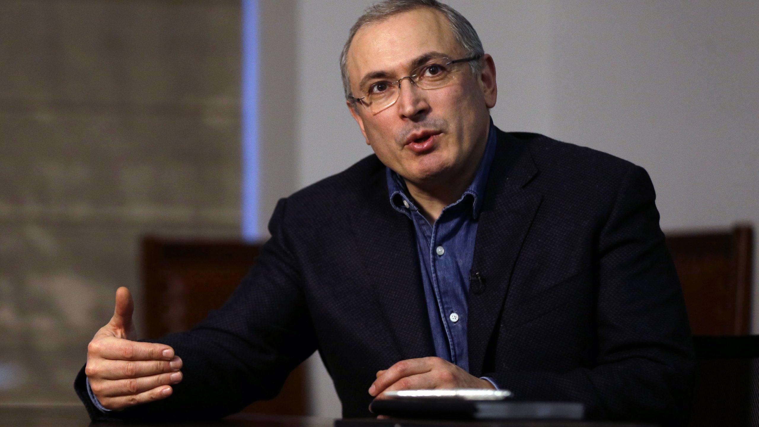 Portrait de l'opposant russe Mikhaïl Khodorkovski.