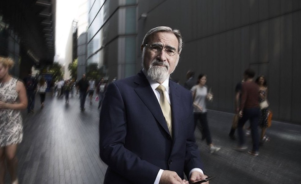 Portrait du Rabbin Jonathan Sacks,