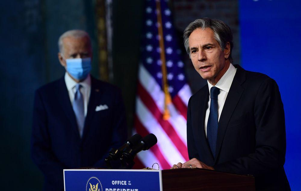 Portrait du nouveau secrétaire d'Etat américain Antony Blinken