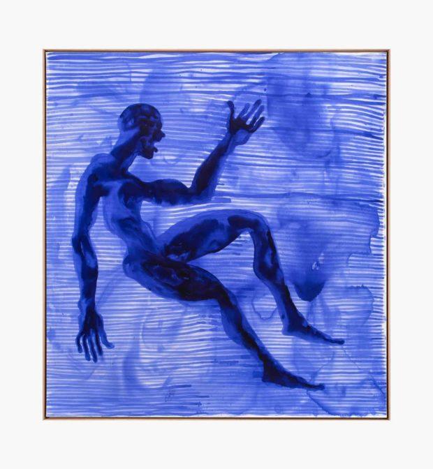 Barthélémy Toguo, Partage VIII, 2020. Encre sur toile, 200 x 200 cm. Courtesy Galerie Lelong & Co.