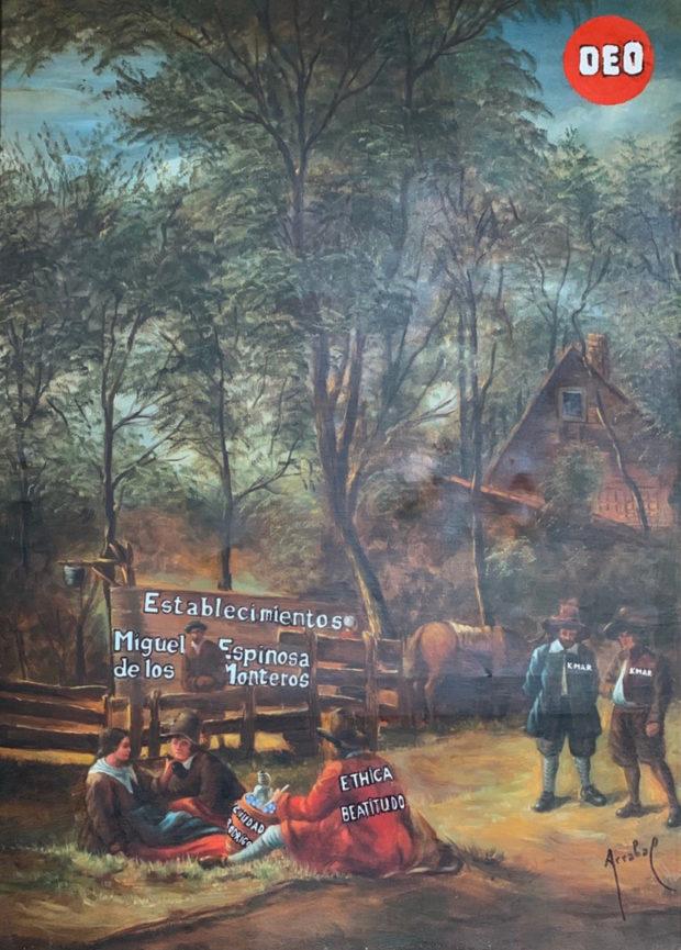 Une toile de Fernando Arrabal en hommage à Spinoza.