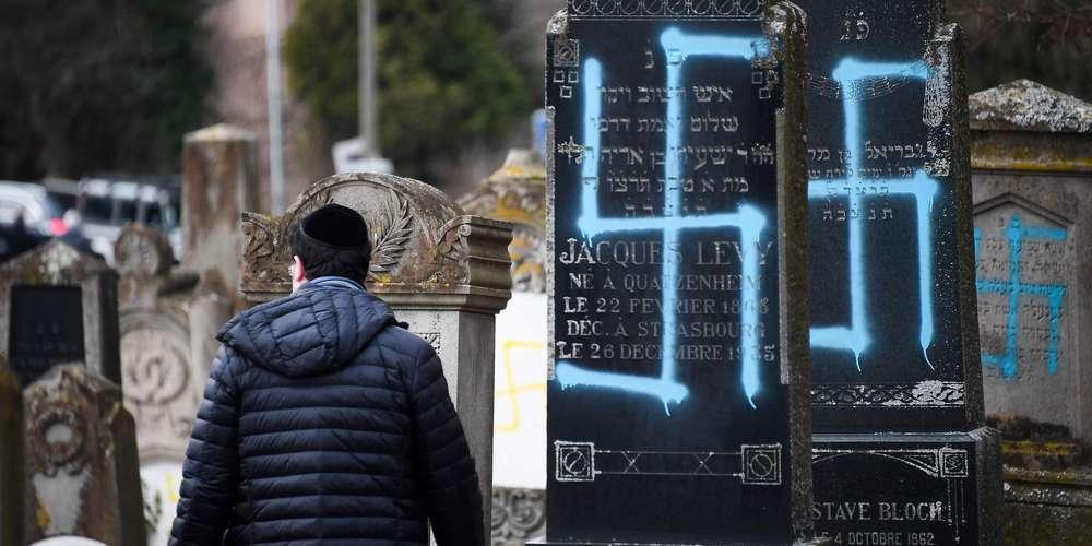 Des inscriptions antisémites sur des tombes du cimetière juif de Quatzenheim.