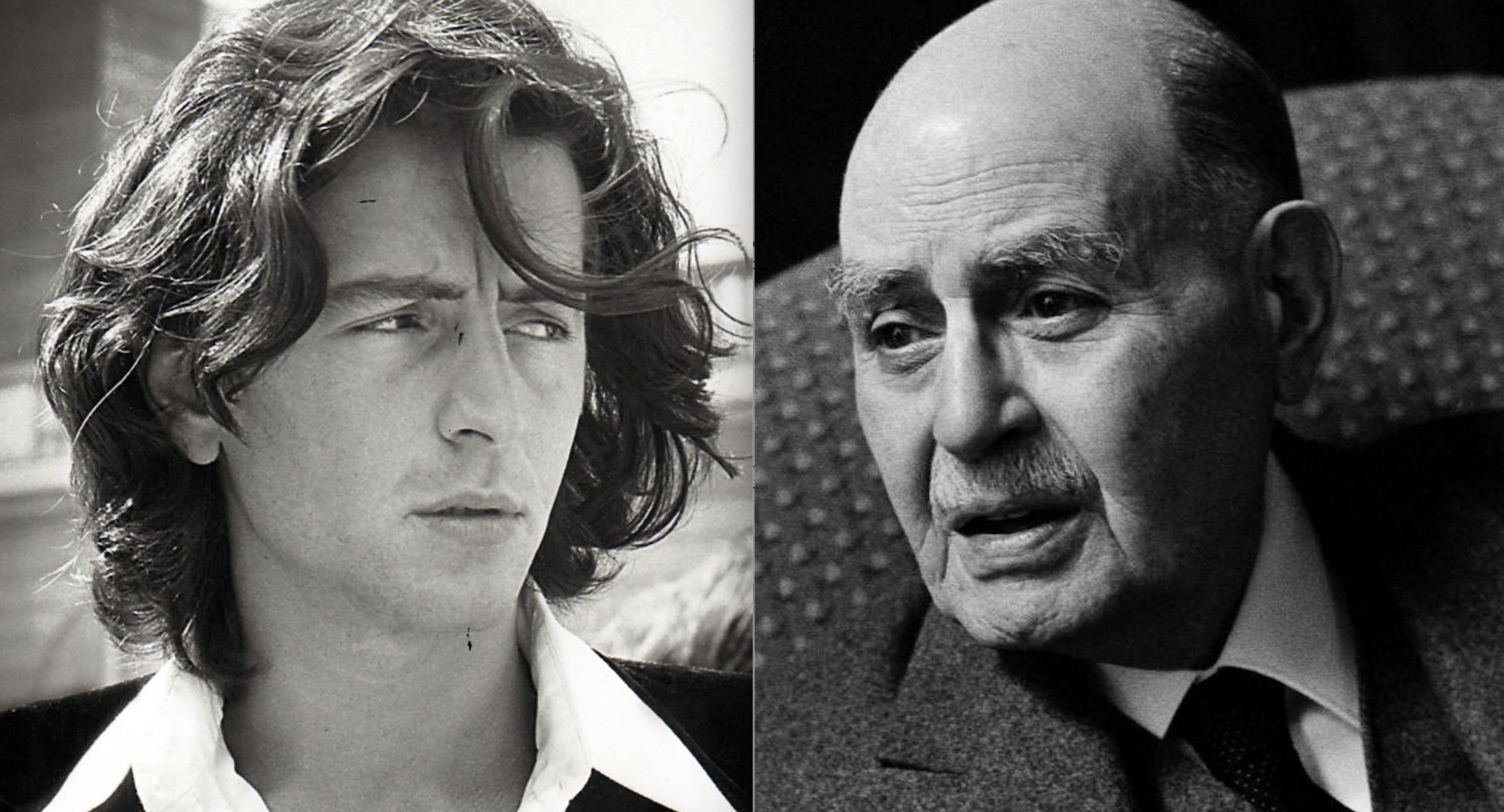Portraits, côte à côte, de. Bernard-Henri Lévy et Albert Cohen.