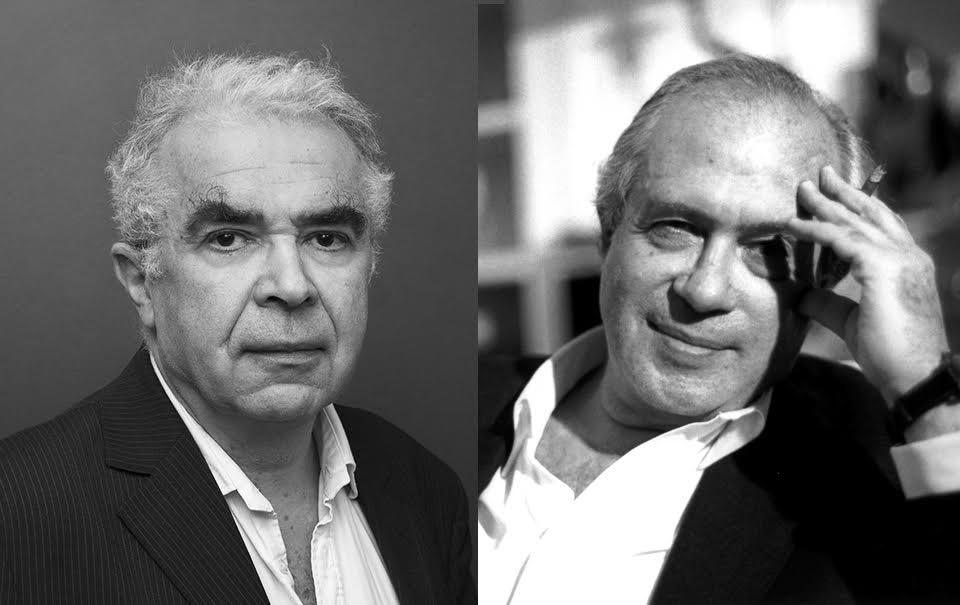 Portrait des psychanalystes Eric Marty et Jacques-Alain Miller.