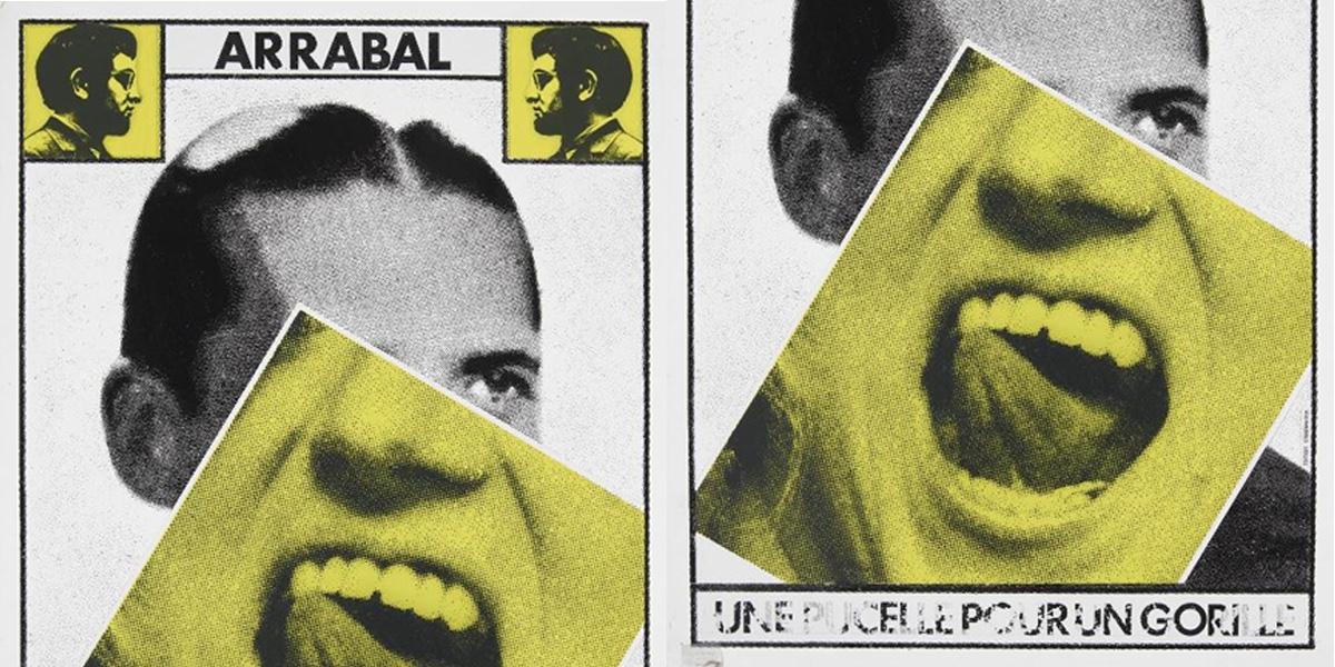 Détail d'une affiche en honneur de Fernando Arrabal.