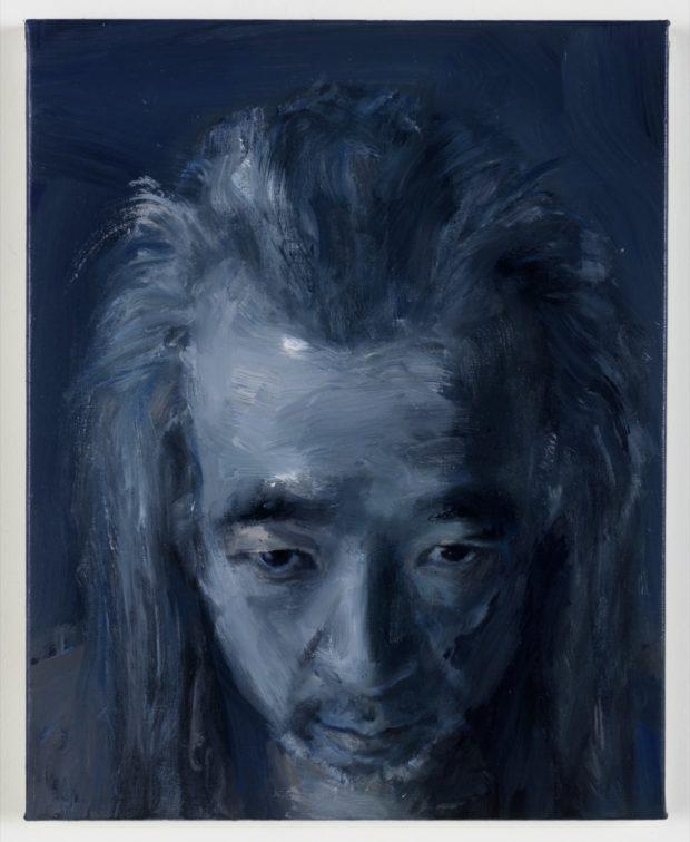 Yan Pei-Ming Autoportrait, le calme, 2020 Oil on canvas