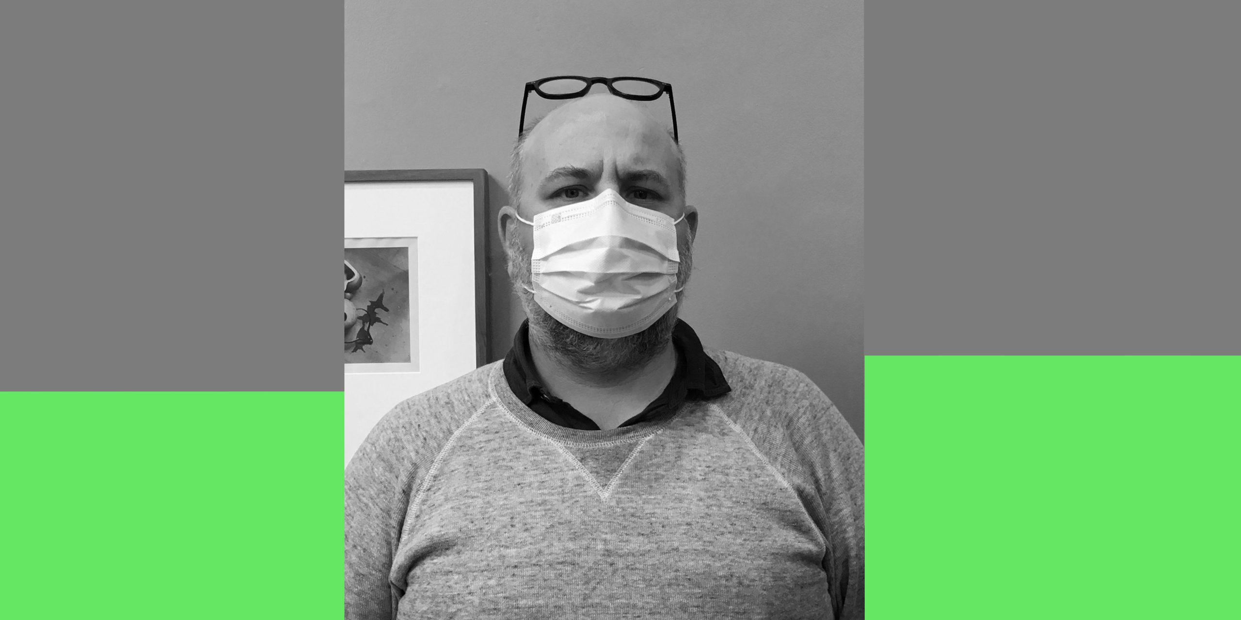 Portrait noir et blanc de David Fleiss