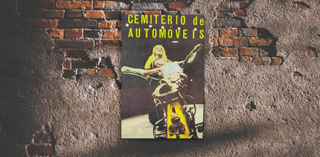 affiche de Cimetière des voitures sur un mur de briques