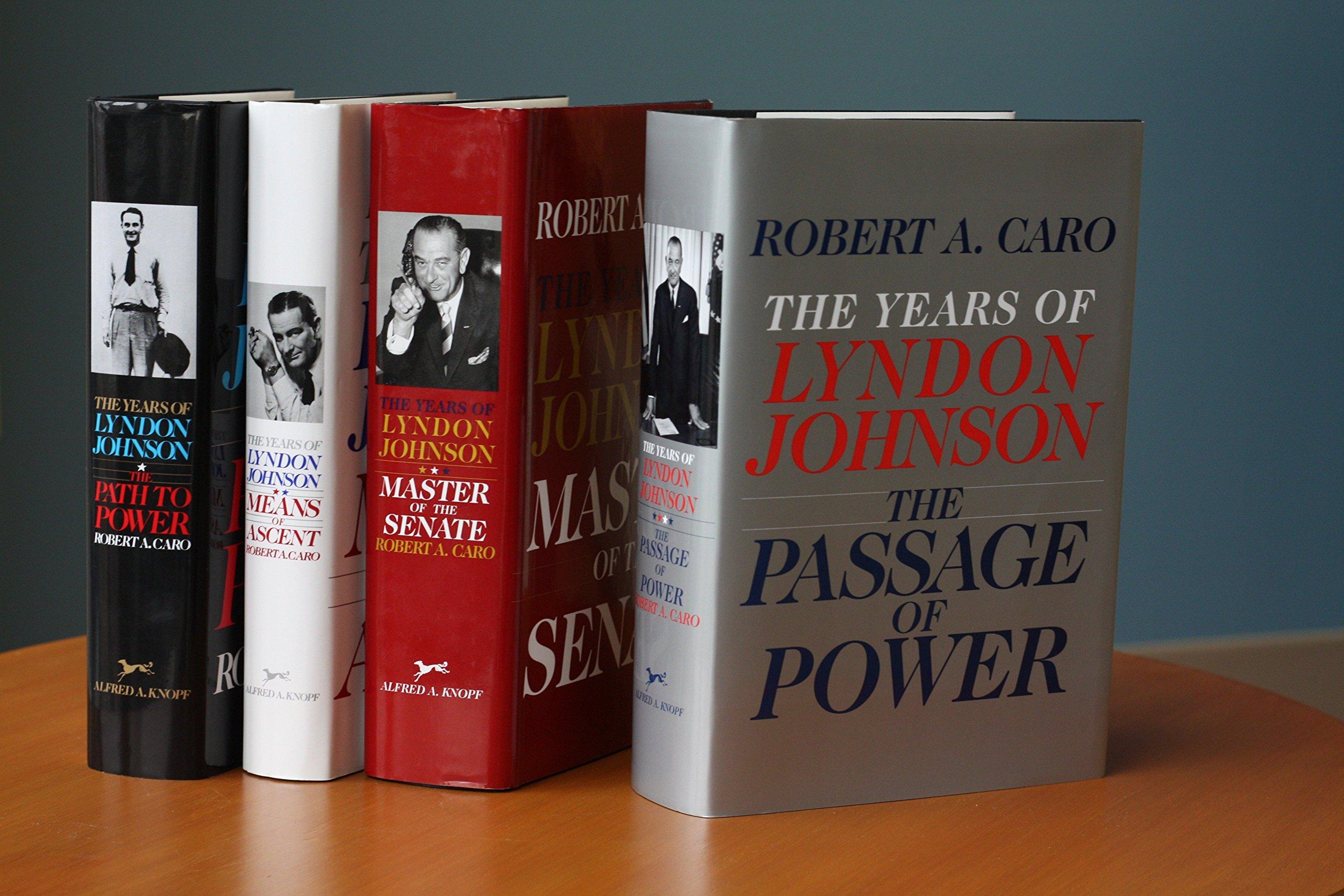 photo couleur des quatres tomes de the years of lyndon jonhson