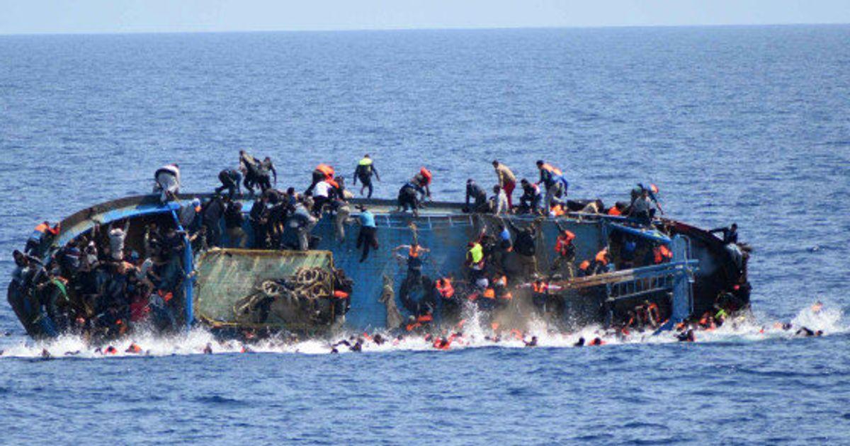 Le naufrage d'un bateau de migrants en Méditerranée. Photo AFP.