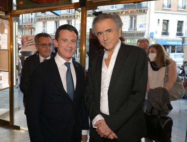 Portrait de Bernard-Henri Lévy et Manuel Valls
