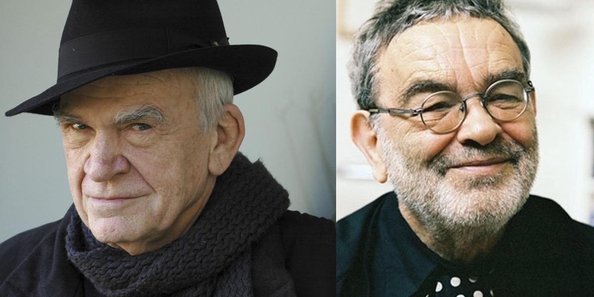 Milan Kundera et Fernando Arrabal