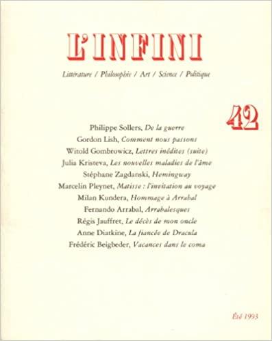 couverture de la revue L'Infini
