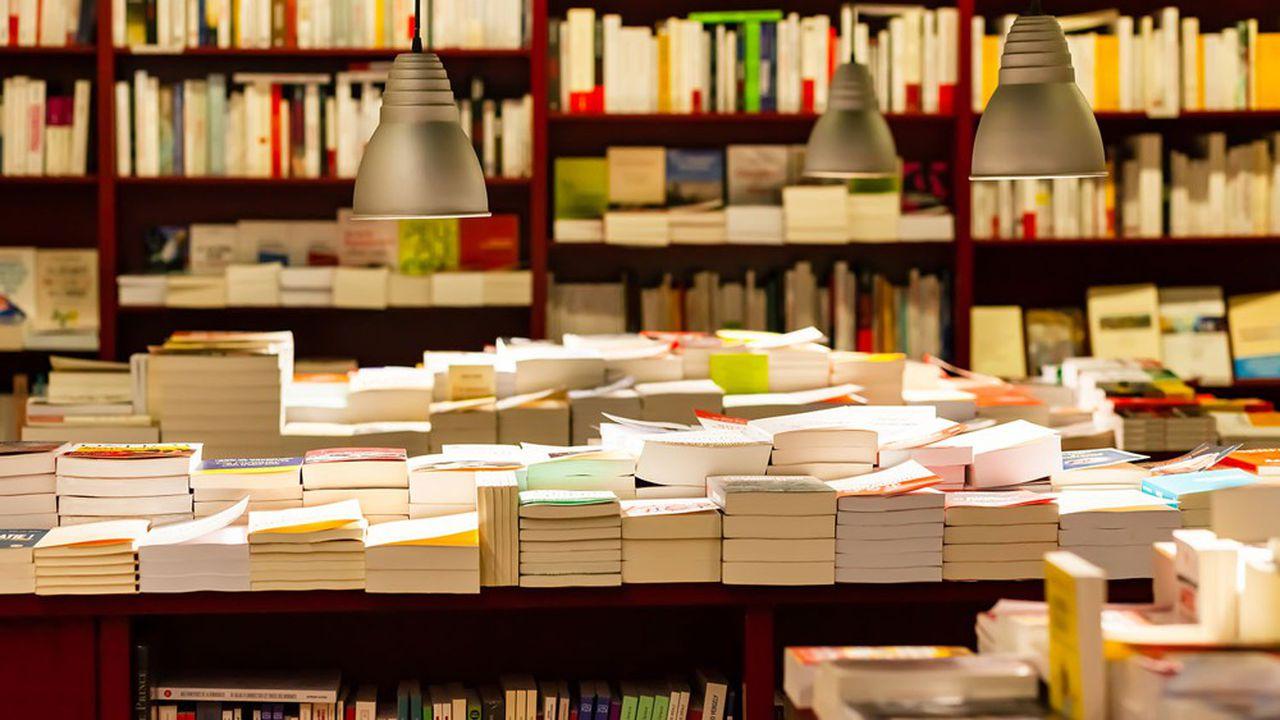 Vue d'une librairie française dans le quartier de Saint-Germain-des-Près.