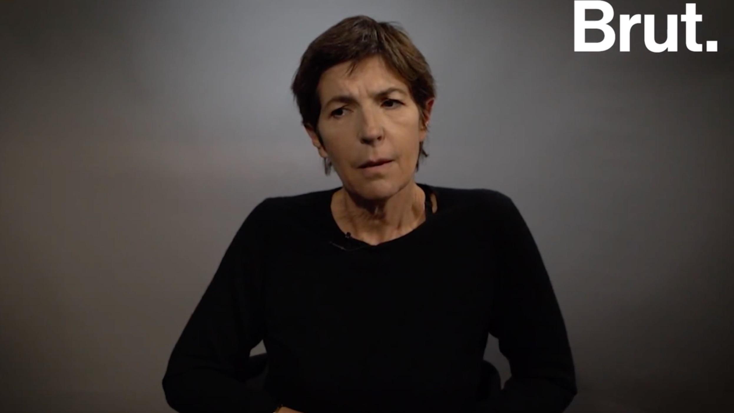 Christine Angot accorde un entretien au média Brut.