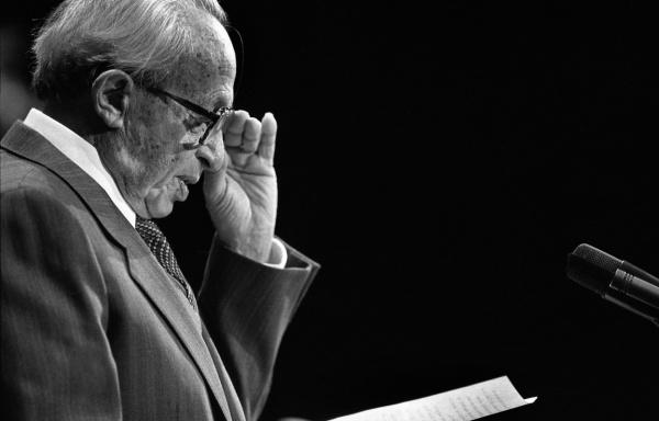Hans Jonas, philosophe allemand (1903-1993).