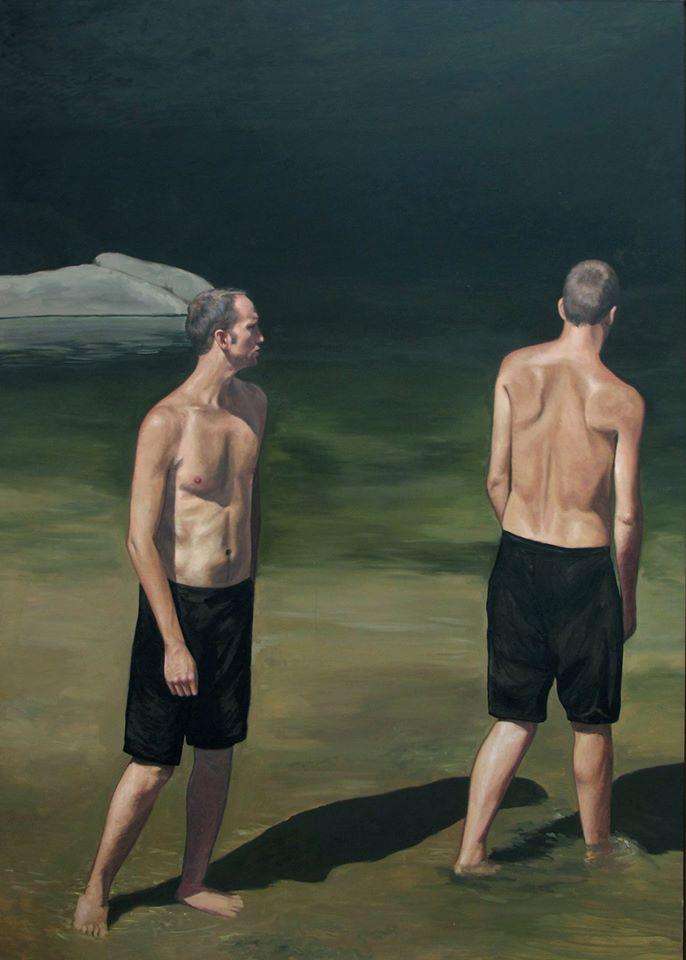 François Malingrëy, Dans la rivière, 2015, 200 x 140 cm